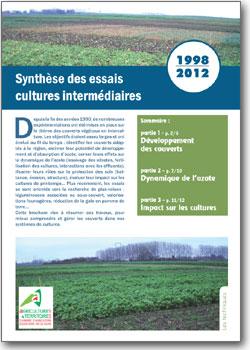 Synth se des essais cultures interm diaires 1998 2012 for Chambre agriculture nord