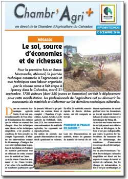 Le sol source d conomies et de richesses a2c le site for Chambre agriculture calvados