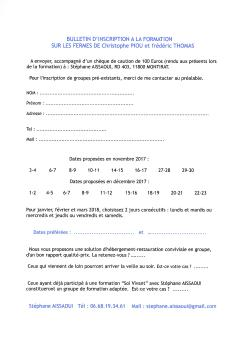 Bulletin inscription formation Aissaoui