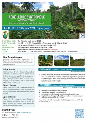 Formation agriculture synthropique