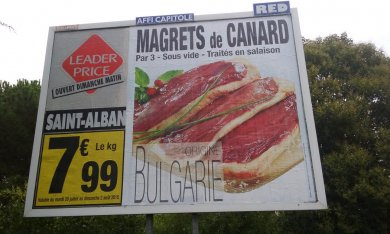 Canard made in Bulgarie à Toulouse