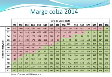 Marge Colza 2014